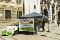 Marijuana petition. Petition signing for legalising marijuana in Munich, Germany Stock Images