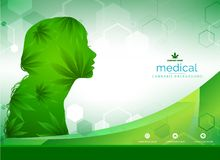 Marijuana plant and cannabis on green backgrounds vector illustration