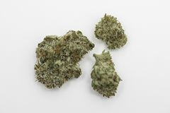 Marijuana Pot Weed Nugget. Marijuana nugget also referred to as pot and weed against a white background Royalty Free Stock Photos