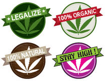 Marijuana product label vector Royalty Free Stock Image