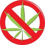 Marijuana prohibit sign Royalty Free Stock Photography