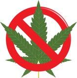Marijuana prohibit sign Stock Images