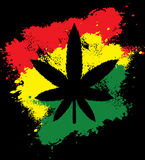 Marijuana rasta grunge Stock Photos