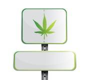 marijuana road sign illustration design Stock Photos