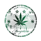 Marijuana rubber stamp royalty free illustration