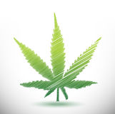 marijuana scribble illustration design Royalty Free Stock Photo