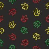 Marijuana Seamless Vector Pattern Stock Photo