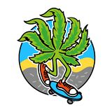 Marijuana skater stock illustration