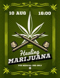Marijuana smoker, weeds, drug warning vector background Royalty Free Stock Image
