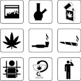 Marijuana smoking icon Stock Photo