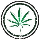 Marijuana stamp Royalty Free Stock Photos