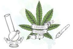 Marijuana stuff collection. Stock Images