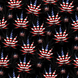Marijuana in the USA Leaf Pattern Repeat Background. Marijuana Leaf with the colors of American flag Marijuana Leaf Pattern Repeat Background that is seamless stock image