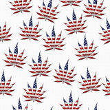 Marijuana in the USA Leaf Pattern Repeat Background Stock Photo