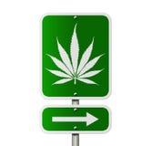 Marijuana this way stock illustration
