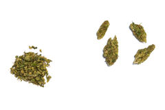 Marijuana on white Royalty Free Stock Photo