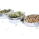 Marijuana White Background Stock Images