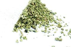 Marijuana White Background Stock Photo