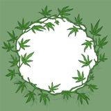 Marijuana wreath  illustration Stock Photo