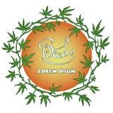 Marijuana wreath vector illustration Royalty Free Stock Images