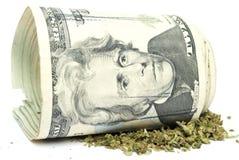 Marijuana y dinero Fotografía de archivo