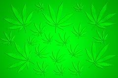 Marijuanabakgrund royaltyfri illustrationer