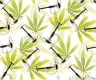 Marijuanasidor och sömlös modell för kontur Royaltyfria Foton