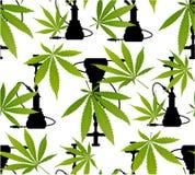 Marijuanasidor och sömlös modell för kontur Royaltyfri Bild