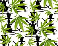 Marijuanasidor och sömlös modell för kontur Arkivbilder