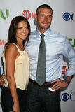 Marika Dominczyk,Scott Foley. Scott Foley & Wife Marika Dominczyk  arriving at the CBS TCA Summer 08 Party at Boulevard 3 in Los Angeles, CA on July 18, 2008 Stock Images