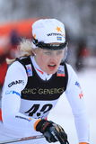 Marika Sundin - cross country. Marika Sundin from Sweden during the cross country ski sprint within the FIS World Cup in Liberec, Czech Republic. The event took Stock Photography