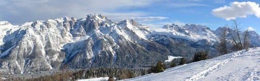 Marilleva, panoramic view Royalty Free Stock Images