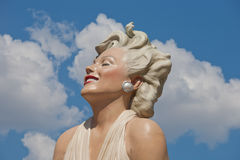 Marilyn Comes to Palm Springs Royalty Free Stock Image