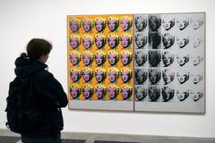 Marilyn Diptych - målning av Andy Warhol Royaltyfri Foto