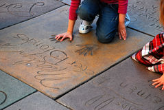 Marilyn Hand Prints, Hollywood Royalty Free Stock Image