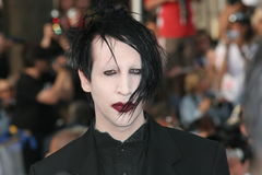 Marilyn Manson. CANNES, FRANCE - MAY 21: Marilyn Manson attend the 'Over The Hedge' premiere at the Palais Des Festivals during the 59th International Cannes stock photography