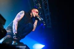 Marilyn Manson concert royalty free stock photos