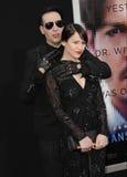 Marilyn Manson & Lindsay Usich Stock Photos