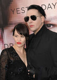 Marilyn Manson & Lindsay Usich Royalty Free Stock Photography