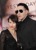 Marilyn Manson & Lindsay Usich royalty free stock photography