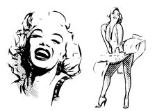 Marilyn Monroe vektor illustrationer