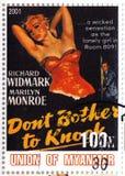 Marilyn Monroe e Richard Windmark foto de stock