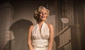 Marilyn Monroe, escultura da cera, senhora Tussaud foto de stock