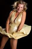 Marilyn Monroe Girl. Dress blowing up marilyn monroe girl royalty free stock photos