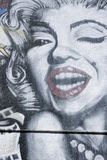 Marilyn Monroe Graffiti Art Stock Image