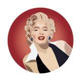 Marilyn Monroe härlig aktris royaltyfri illustrationer