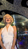 Marilyn Monroe in her white dress, Madame Tussauds museum in London. Stock Photos
