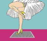 Marilyn Monroe legs style with flying dress Royalty Free Stock Photo