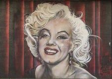 Marilyn Monroe-muurschildering, Bischop Arts District, Dallas, Texas royalty-vrije stock foto