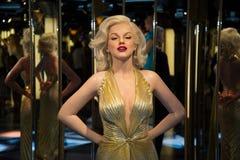 Marilyn Monroe no museu de Grevin das figuras de cera em Praga imagem de stock